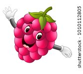 raspberry with face | Shutterstock . vector #1010112805