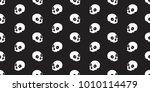 skull seamless pattern...   Shutterstock .eps vector #1010114479
