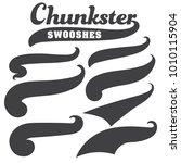 black squiggle swoosh text font ... | Shutterstock .eps vector #1010115904