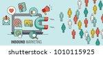 inbound header w magnet... | Shutterstock .eps vector #1010115925