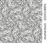 ethnic black and white seamless ... | Shutterstock .eps vector #1010118001