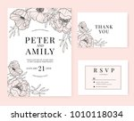 wedding invitation card... | Shutterstock .eps vector #1010118034