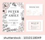 wedding invitation card... | Shutterstock .eps vector #1010118049