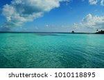 isla mujeres  caribbean sea ... | Shutterstock . vector #1010118895