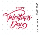 red happy valentine's day blue... | Shutterstock .eps vector #1010122885