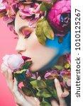 beauty portrait. beautiful... | Shutterstock . vector #1010125267