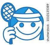 Emoji With Female Tennis Playe...
