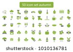 collection of autumn icons.... | Shutterstock .eps vector #1010136781
