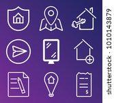 business outline vector icon... | Shutterstock .eps vector #1010143879