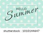 hello summer banner. green... | Shutterstock .eps vector #1010144647