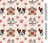 seamless pattern. lovely... | Shutterstock .eps vector #1010160199