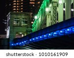 bridge night view in japan  | Shutterstock . vector #1010161909