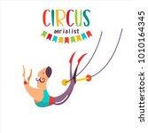 circus artist. air acrobats... | Shutterstock .eps vector #1010164345