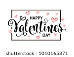 happy valentines day card.... | Shutterstock .eps vector #1010165371