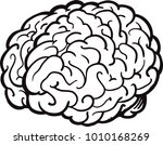 cartoon brain. cute brain... | Shutterstock .eps vector #1010168269