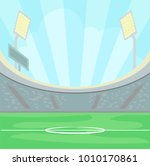 empty stadium with a green... | Shutterstock .eps vector #1010170861