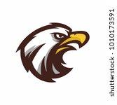 animal head   eagle   vector... | Shutterstock .eps vector #1010173591