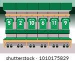 soccer dressing rooms team.... | Shutterstock .eps vector #1010175829