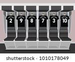 soccer dressing rooms team.... | Shutterstock .eps vector #1010178049