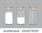 realistic transparent glass... | Shutterstock .eps vector #1010179255