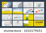 presentation template with... | Shutterstock .eps vector #1010179651