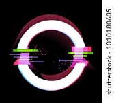 glitch effect  frame  modern... | Shutterstock .eps vector #1010180635