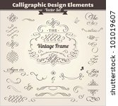 calligraphic design elements | Shutterstock .eps vector #101019607