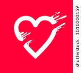 heart pierced by arrow amour. ...   Shutterstock .eps vector #1010200159
