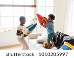 brother and sister pillow... | Shutterstock . vector #1010205997