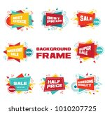 set of colorful abstract chat... | Shutterstock .eps vector #1010207725