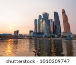 moscow modern buildings of... | Shutterstock . vector #1010209747