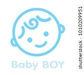 baby boy face icon symbol... | Shutterstock . vector #1010209951