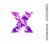 letter x is made in the... | Shutterstock .eps vector #1010218051