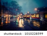 colorful night traffic in the... | Shutterstock . vector #1010228599