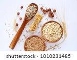muesli bars. whole grain... | Shutterstock . vector #1010231485