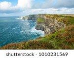 the cliffs of moher  irelands... | Shutterstock . vector #1010231569
