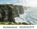 the cliffs of moher  irelands... | Shutterstock . vector #1010231575
