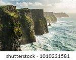 the cliffs of moher  irelands... | Shutterstock . vector #1010231581