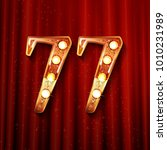 77 years anniversary... | Shutterstock .eps vector #1010231989