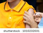 vaccination for girls to... | Shutterstock . vector #1010232031