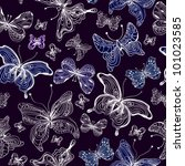 seamless butterfly background... | Shutterstock .eps vector #101023585