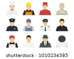 professions set avatar icons.... | Shutterstock .eps vector #1010236585