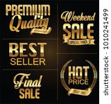 premium quality and sale golden ... | Shutterstock .eps vector #1010241499