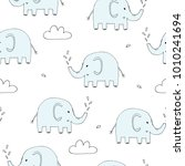 cute seamless pattern with... | Shutterstock .eps vector #1010241694