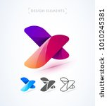 vector abstract letter x logo... | Shutterstock .eps vector #1010245381