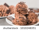 ice cream with chocolate and... | Shutterstock . vector #1010248351