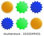 sunburst vector badges | Shutterstock .eps vector #1010249431