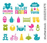 a set of simple icons for... | Shutterstock .eps vector #1010251975