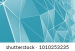 multifaceted geometric... | Shutterstock . vector #1010253235