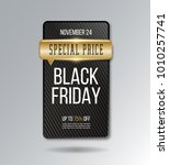 black friday sale banner.... | Shutterstock .eps vector #1010257741